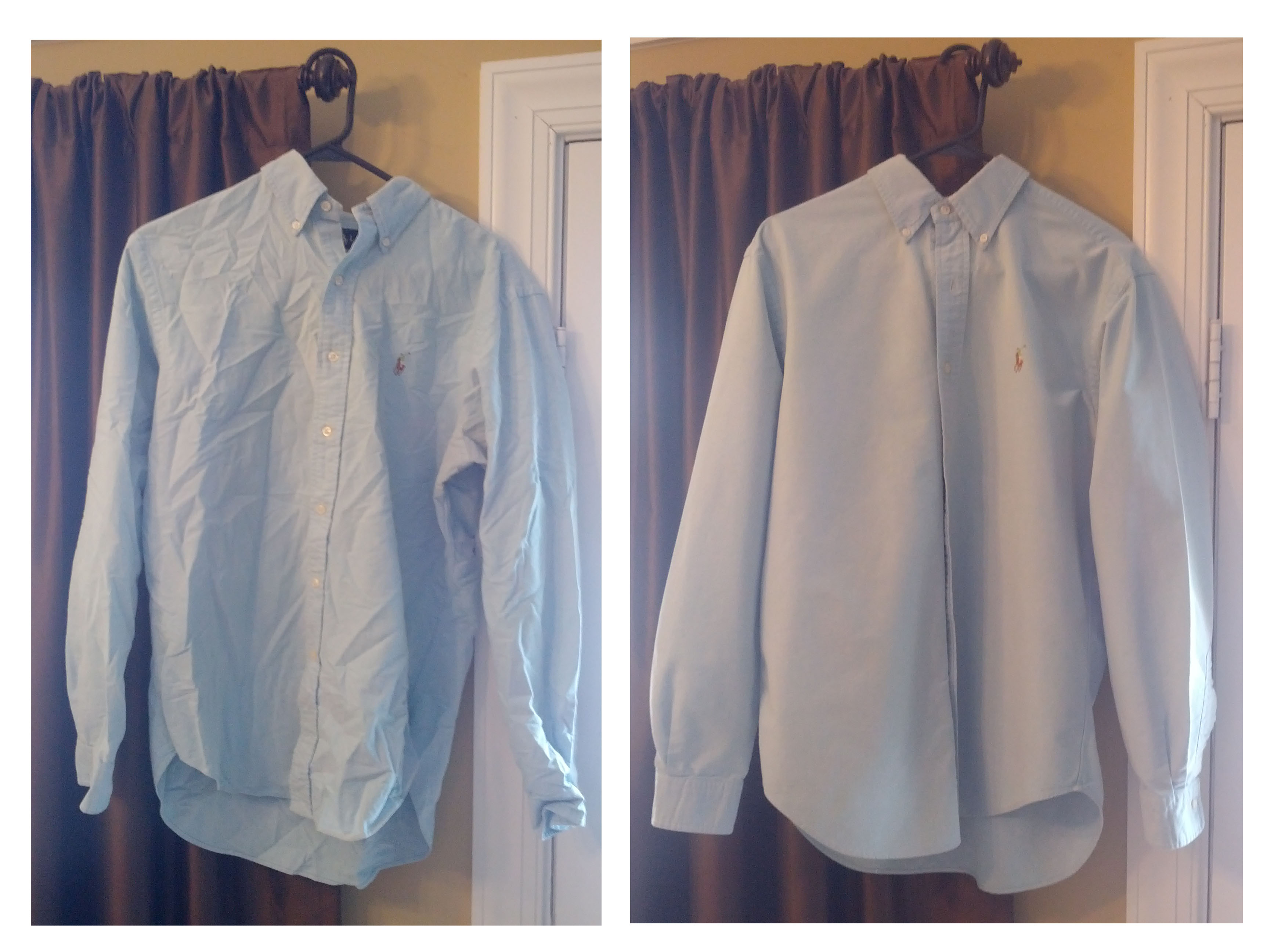 Dude how do i iron a dress shirt dude how for Starch on dress shirts